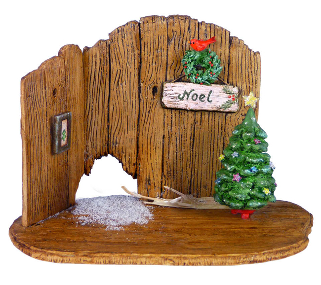 NM-4a Christmas Barn Door Backdrop