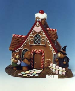 T-11 Hansel & Gretel Bears at the Witch's House